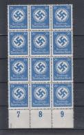 Deutsche Reich Michel Kat,Nr. Dienst  Postfr/** 174  -12- Bogenteil - Dienstzegels