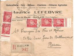 Petain Lettre Recommandée DeDuclair à Rouen 20/11/1943 - 1941-42 Pétain
