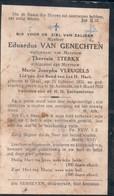 Doodsprentje Eduardus Van Genechten (x Sterkx , Vleugels )  ° 1851 Gheel Geel + 1933 ST. Antonius - Imágenes Religiosas