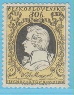 J.P.S. 7 - Musique - Timbre - Compositeur - N° 103 - Tchécoslovaquie - Mozart - N° Yvert 858 - Musique