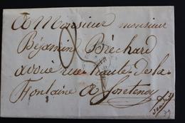 LAC CAD BOURBON ? CAD D ARRIVEE FONTENAY LE COMTE DU 26 FEV 1848 TYPE 15 TAXE MANUSCRITE 3 DECIMES.. - 1801-1848: Vorläufer XIX