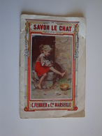 Carnet De Blanchissage  Calendrier Pour Le Savon Le CHAT, C.Ferrier,Cie.Marseille 1920-1921 - Calendars