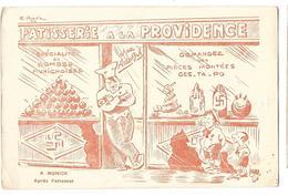 GUERRE 1939-45 Carte Illustrée Caricature HITLER Attentat De Munich Patisserie - War 1939-45