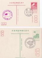 Postal Stationery With Special Cancellations - 1945-... République De Chine