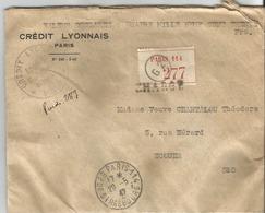 Petain 1 Lettre Chargée 4900 Frs. De Paris à Ecouen 29/05/1942 T.P. Perforés - 1941-42 Pétain