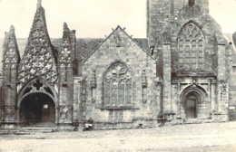 29 FINISTERE Carte Postale Photo De La Façade De L'Eglise De PONT-CROIX - Pont-Croix