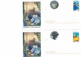 TINTIN : Deux Enveloppes Vierges Avec Timbres Tintin. Peuvent Servir Au Courrier Uniquement En France. - Comics