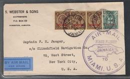 Jamaica, 1930 Ffc First Flight Cover To Miami, USA       -CP92 - Jamaica (...-1961)