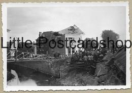 2.WK Foto Jodoigne Brücke Stadt Nach Bombardement Trümmer Deutsche Soldaten Bauen Behelfsbrücke Pont Pi. Btl. 50 WW2 - Guerre 1939-45