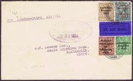 Ireland Airmail 1924 Cover Via London-Cairo Air Service GEOGRAPHICAL Slogan - Airmail
