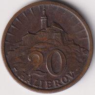 SLOVAKIA , 20 HALIEROV 1940 - Eslovaquia