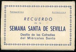 Recuerdo Semana Santa Sevilla Desfile De Las Cofradias Der Miercoles Santo Cuaderno Con 10 Postales - Sevilla