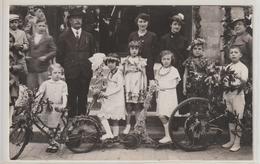 RAMBOUILLET, Carte-photo Fête Avec Enfants Costumés Sur Vélos - Photo Daigueperse - Rambouillet