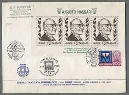 C6492 San Marino Annullo 1982I PREMIO MUSICALE AUGUSTO  MASSARI FOGLIETTO ERINOFILO CENTENARIO INTERI POSTALI - Lettres & Documents