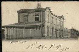 Carte écrite: Melreux - La Gare - Obl. Melreux-Hotton  22/07/1907 - Esneux