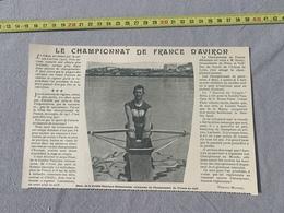 1901 GA CHAMPIONNAT DE FRANCE D AVIRON HISER SOCIETE NAUTIQUE SOISSONNAISE - Old Paper