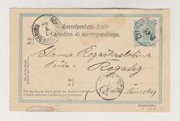 CROATIA AUSTRIA 1903 CITTANOVA NOVIGRAD Postal Stationery - Croatie