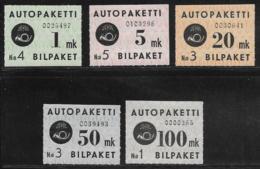 Finland Scott # Q1-5 Mint Hinged Parcel Post, 1949-50, CV$76.40 - Finland