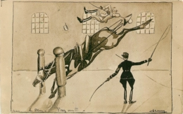 SAUMUR  CADRE NOIR ILLUSTRATEUR  HENRY  1933 - Saumur