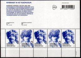 2019 Netherlands 350 Years Of Death Of Rembrand Van Rein Sheetlet MNH** MiNr. 3796 - 3797 Art, Portraits, Painting - Ongebruikt