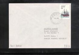 Australian Antarctic Territory 1980 Base Mawson Interesting Cover - Brieven En Documenten