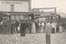 VIROFLAY Accident De Tramways Devant L' Ecu De France 1901 - Vieux Papiers