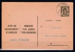 Kaart Van Val-Meer (sterstempel) Naar Bruxelles - 1935-1949 Klein Staatswapen