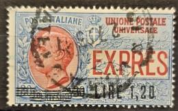 ITALIA / ITALY 1921 - Canceled - Sc# E10 - 1.20L/30c - 1900-44 Victor Emmanuel III