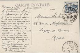 1ère Série Orphelins De La Guerre YT 151 CAD Faverney 8 8 18 Texte Intéressant Sur Censure Militaire CPA Belfahy - Marcophilie (Lettres)