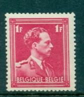 België 1936 Leopold III 1F Karmijnrood OPB 428 Postfris MNH - 1934-1935 Leopold III