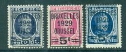 België 1929 Houyoux Voorafstempeling Bruxelles OPB 273-275 Postfris MNH - Unused Stamps