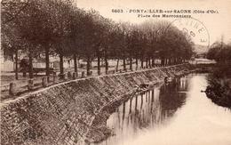 CPA  - 21 - PONTAILLER-SUR-SAONE - Place Des Marronniers - Lavandières - Altri Comuni
