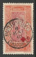 FRANCE AFRICA / DAHOMEY / BENIN. POSTMARK. USED. PORTO NUOVO. 10c + 5c. - Dahomey (1899-1944)