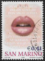 San Marino SG1910 2002 Greetings Stamp 41c Good/fine Used [40/33149/7D] - Oblitérés