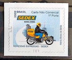 Brazilian Stamp 852 Selo Regular Serviço Postal Sedex Moto Transporte 2011 Picote BR - Ungebraucht
