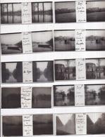 Inondations De Paris Janvier 1910, 33 Plaques Stéréo Format 42 X 105mm + 7 Plaques Banlieue Dans Boite Rangement En Bois - Glass Slides