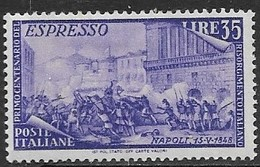 Italy  1948    Sc#E26   35L  Express Mail MLH    2016  Scott Value  $67.50 - Express/pneumatic Mail