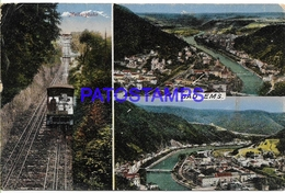 132888 GERMANY BAD EMS. MULTI VIEW TRAIN CIRCULATED TO NETHERLANDS POSTAL POSTCARD - Non Classificati