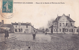 95. Fontenay-en-Parisis Place De La Mairie Et La Poste - Other Municipalities