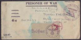 """L. D'un Prisonnier Allemand Camp Robinson Flam. NEW YORK /AUG 1 1944 Pour AHLEN Westfalen - Cachet """"DISPATCHED JUL 22 19 - Zona Anglo-Américan"""