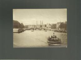 Photo Format 10 X 14,1 Cms Amsterdam 19e Siècle Bateau  Péniche Koffers Tasschen 95 97 Kalverstraat Pont - Anciennes (Av. 1900)