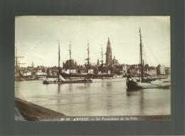 Photo Format 12 X 18 Cms19e Siècle Anvers Le Panorama De La Ville Bateaux Péniche Voilier - Anciennes (Av. 1900)