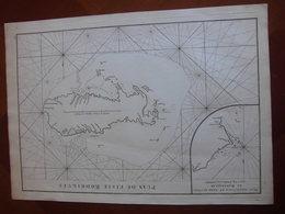 Ile Rodrigue Ile Maurice: Grande Carte Marine De 1775 Par Mannevillette «Plan De L'Isle Rodrigues » - Cartes Marines