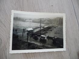 Photo Originale Inondations D'Alais Alès Gard 1958 Le Pont Vieux Côté Ville - Lieux