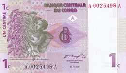 République Démocratique Du Congo - Billet De 1 Centime - 1er Novembre 1997 - P80a - Neuf - Repubblica Democratica Del Congo & Zaire