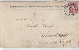 Brief Vom Christiane Hagenbeck, ... Exotischer Vögel Aus HAMBURG 4. 2.2.89 Rs. Vignette Mit Kakadu / Mängel!! - Germania
