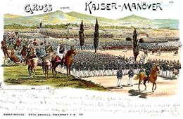 CARTE Allemande - GRUSS Aus KAISER-MANÖVER - Ed. Otto Mangold, Frankfurt A. M. - Manoeuvres