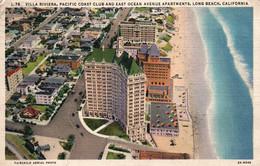 Villa Riviera, Pacific Coast Club And East Ocean Avenue Apartments, Long Beach, California CA - Aerial Photo - Long Beach