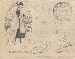 9755-LETTERINA ILLUSTRATA- 1° GUERRA-POSTA MILITARE N.175 - 6-7-1919 - 1900-44 Victor Emmanuel III