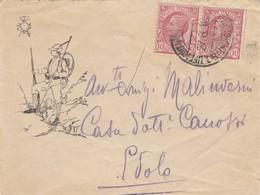 9756-LETTERINA ILLUSTRATA CON DISEGNO DI ALPINO- 1° GUERRA-UFF. POSTA MILITARE 6° DIVIS. - 27-8-1916 - Marcophilia